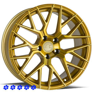 Aodhan Ls009 Wheels Gold 18 35 Staggered Rims 5x114 3 05 09 Ford Mustang Gt V6