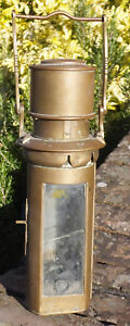 19th C Vintage Marine Rare Brass Nautical Ship Boat Whale Oil Lamp Lantern