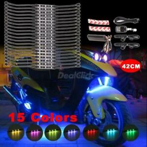 Million Color Led Neon Car Motorcycle Lights Kit 20 Tubes W Keyring Remote