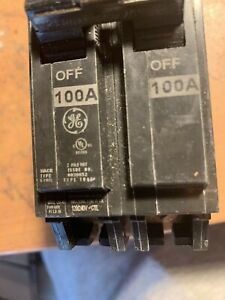 Ge Thhql21100 Double Pole 100 Amps Circuit Breaker See Details