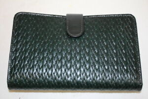 New Raika Handcrafted Green Leather 2002 Pocket Planner W bag Box Ba207 139