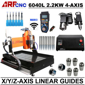 4 axis Cnc 6040e Router Engraver Engraving Drilling Machine Water Cooling 2 2kw
