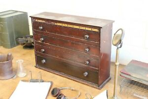 Vintage Antique Apothecary Cabinet Primitive Wood 4 Drawer Pharmacy 1900s