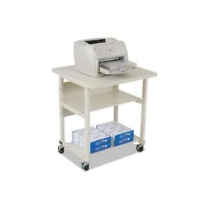 Heavy duty Mobile Laser Printer Stand Three shelf 27w X 25d X 27 1 2h Gray
