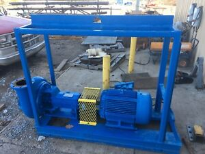 Halco 2500 Supreme Centrifugal Pump With Texp He 50 Hp Motor On A Skid Oilfield