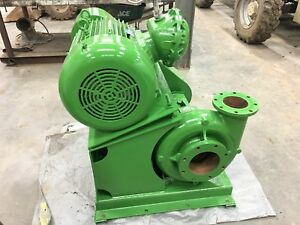 100 Hp Motor And 8x6x14 Centrifugal Pump On Skid Oilfield Drilling Mud oil Rig