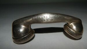 Antique Sterling Silver Telephone Receiver Baby Rattle Watrous Mfg Co