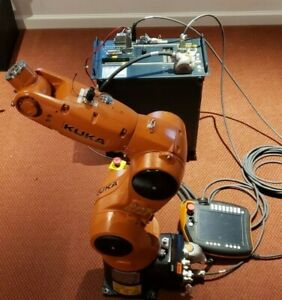 Robot Arm 6 Axis Kuka Kr6 R700 Six With Cables And Controller Krc4 Controller