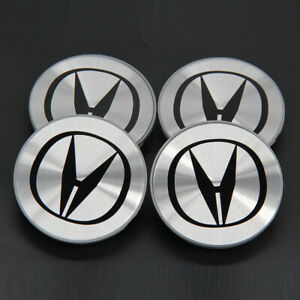 New Acura Set Of 4 Aluminum Wheel Center Hub Cover Caps 69mm Rim Emblem Logo Cap