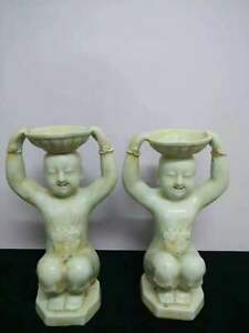 2 X Old Chinese Porcelain Dynasty Palace Wine Tea Pots Flagon Teapots Stoup