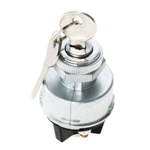 Universal Ignition Switch 2 Keys For Car Tractor Trailer Agricultural Car Lock