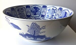 X Large Chinese Canton Punch Bowl