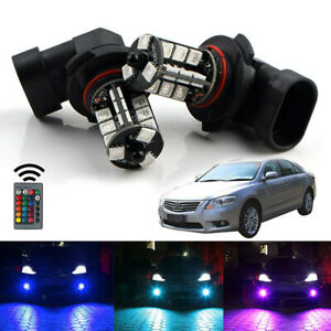 For Toyota Camry 2000 2006 Wireless Ir Remote Multi Color Rgb Led Fog Lights 2x
