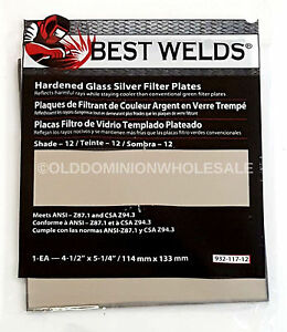 X66 Best Welds 932 117 12 Protection Hardened Glass Silver Plate 4 5 X 5 25