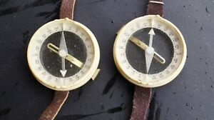 Russian Soviet Ussr Wrist Simple Compass Boy Scout Compass 2 Pieces