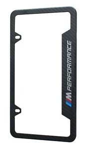 Bmw License Plate Stainless Steel Frame With Carbon Fiber M Logo