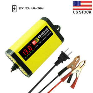 Car Motorcycle Battery Charger 12v 2a Full Automatic 3 Stages Lead Acid Agm E7a4