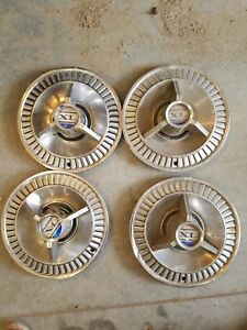 1964 Ford Galaxie Xl Hubcaps 14 Wheel Rim Covers Original Fomoco Set Of 4