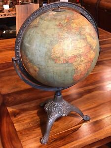 1920 S A J Nystrom Johnston 12 Terrestrial Globe Inclination Circle
