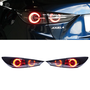 Mazda 3 Axela Led Tail Light 4d Sedan Usdm Smoke 14 18