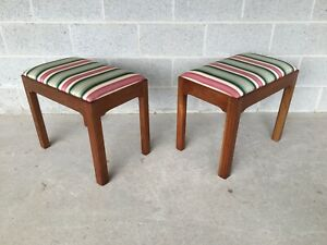Stickley Solid Cherry Old Mansion Chippendale Style Stools A Pair