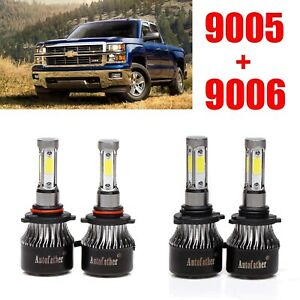 9005 9006 Headlight Bulbs For Chevrolet Silverado 1500 2004 2005 2006 2007 2008