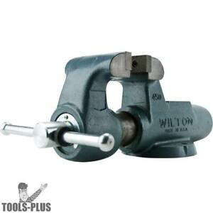 Wilton 10096 5 Machinists Bench Vise W Stationary Base New