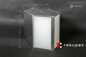 Counterflow Heat Recovery Ventilation Air Exchanger 210 M3 Recuperator Eff 92