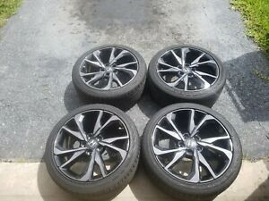 Set Of 4 Honda Civic 2017 2018 18 Oem Rims Tires