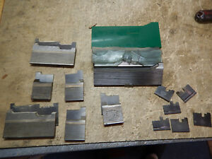 Pile Of New And Used Weinig Double Back Molding Profile Moulding Knives Carbide