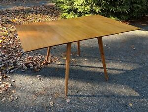 Mid Century Modern Dining Drop Leaf Table By Paul Mccobb For Planner Group