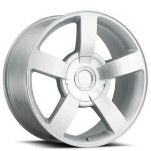 4rims 22 Chevy 1500 Ss Truck Wheels Silver Oem Replica Fs