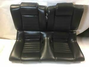 2005 Mustang Gt Coupe Rear Leather Seat Charcoal Black Trim Kw Free Shipping