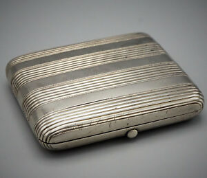 Russian Imperial Antique 84 Silver Cigarette Case Box Moscow Circa 1888