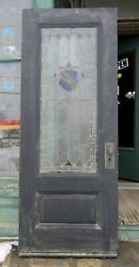 Victorian Era Entry Door W Stained Glass 32 By 82
