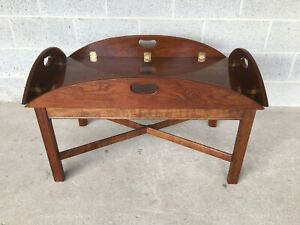 Stickley Cherry Valley Chippendale Style Butler Table 46 X 32