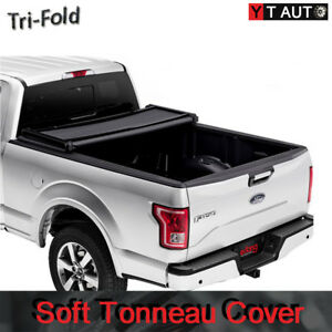 For 1998 2000 Gmc Sierra 6 5ft Short Bed Lock Black Soft Tri Fold Tonneau Cover
