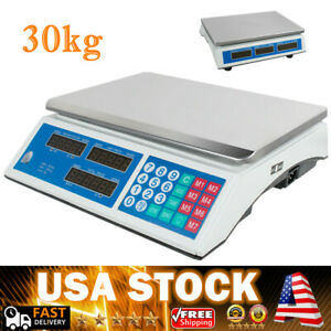 30kg Digital Scale Price Computing Deli Food Produce Counting Weight Warranty