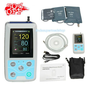 Contec Digital Ambulatory Blood Pressure Monitor Upper Arm 3pcs Bp Cuff Abpm50
