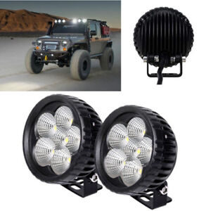 3 Inch Round Led Work Light Bar Spot Lamp Pods Fog Offroad Backup Driving Jeep
