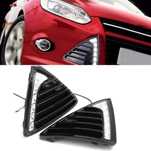 Car 7led Daytime Running Light Fog Lamp Drl Accessories For Ford Focus 2011 2014