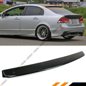 For 2006 15 Honda Civic 8th 9th Gen Sedan Glossy Black Rear Window Roof Spoiler