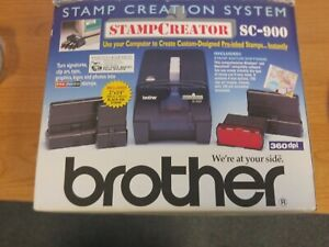 Brother Stamp Creator Sc 900 New In Box Demo