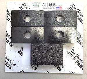 Jeep Military Willys Mb Ford Gpw A4416 R Body Mounting Rubber Pad Set G503