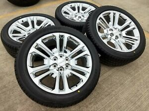 22 Chevy 2018 2019 Tahoe Gmc Chrome Oem Wheels Rims Tires Oe 2016 2017 4741