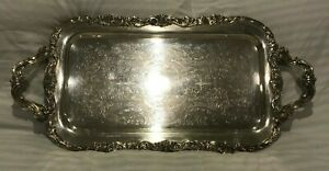F B Rogers Silver Co Silverplate Serving Tray Platter Vintage Plate Antique