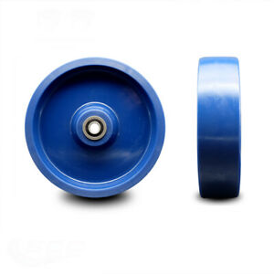 Scc 8 Solid Polyurethane Wheel Only W ball Bearing 1 2 Bore 1400 Lbs Cpty