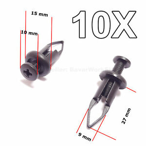 10x Bumper Cover Push Type Retainer Replacement Clips For Toyota Lexus