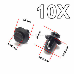10x Door Trim Panel Retainer Exterior Door Moulding Trim For Citroen Peugeot
