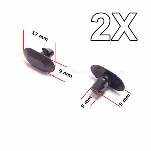 2x Interior Door Card Rubber Trim Clips For Renault Peugeot Citroen